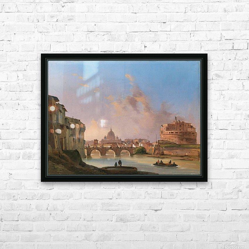San Pietro e Castel Sant Angelo HD Sublimation Metal print with Decorating Float Frame (BOX)