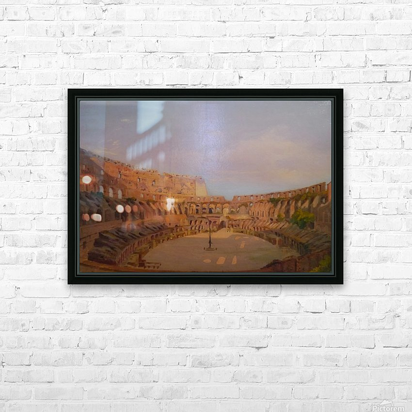 Interior of the Colosseum, 1857 HD Sublimation Metal print with Decorating Float Frame (BOX)