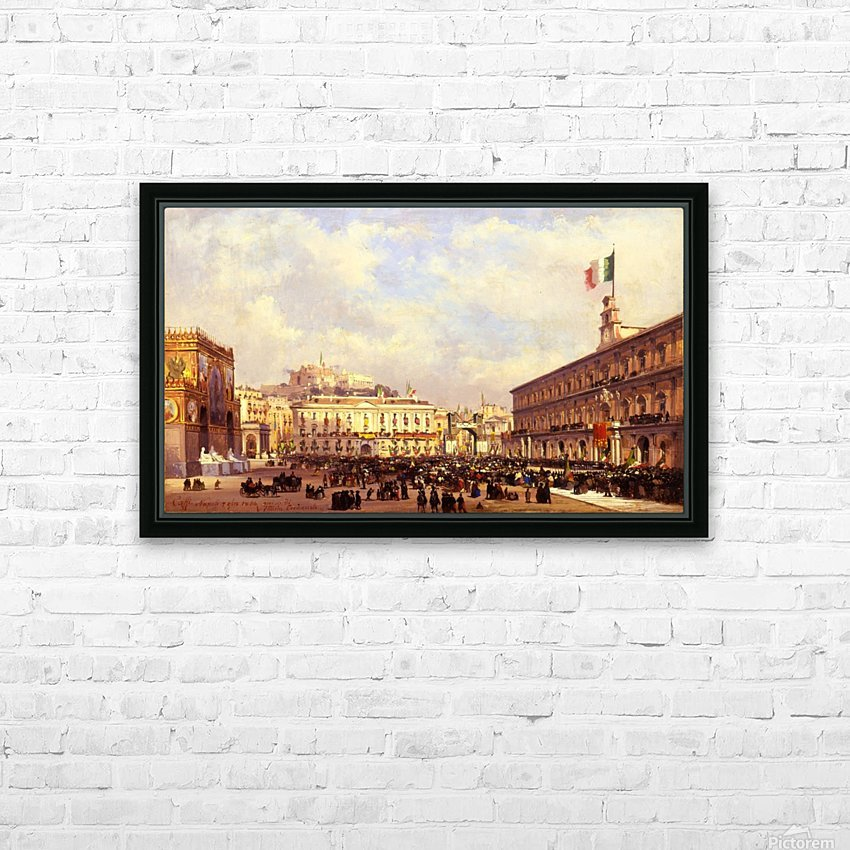 Napoli, 1860 HD Sublimation Metal print with Decorating Float Frame (BOX)
