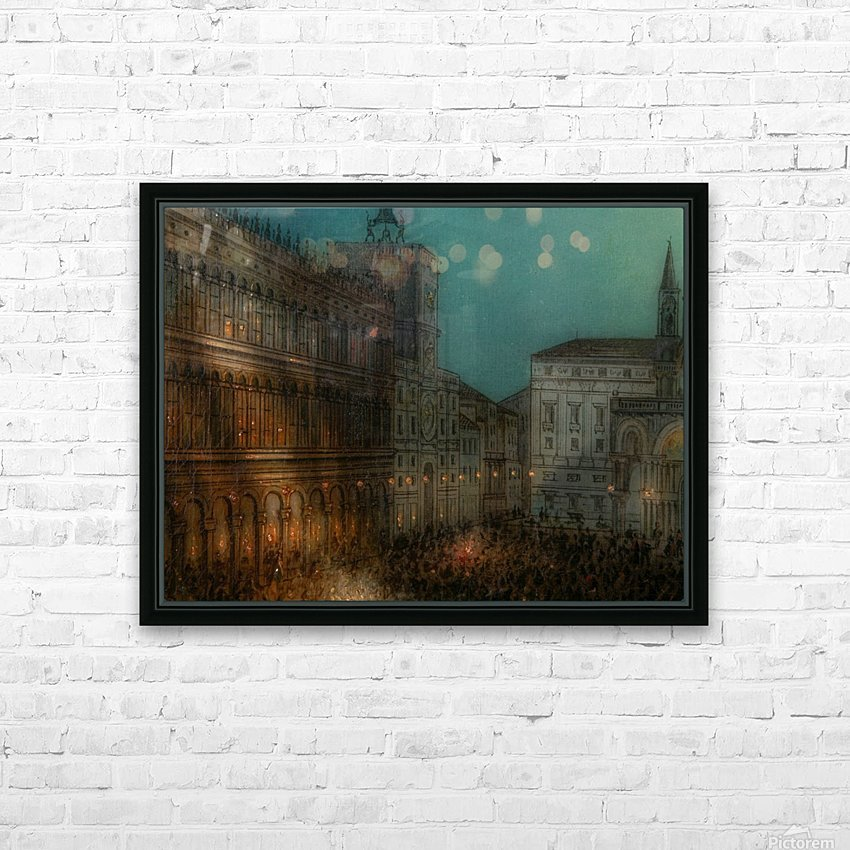 Carnival in Piazza HD Sublimation Metal print with Decorating Float Frame (BOX)
