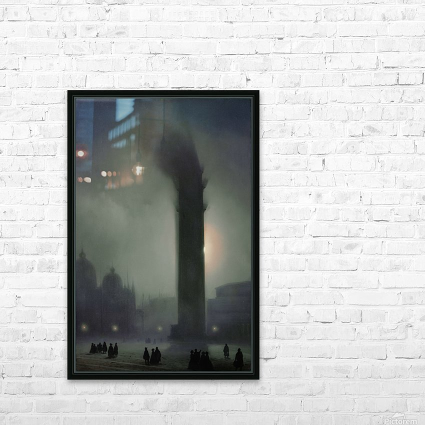 Night with fog in Piazza San Marco HD Sublimation Metal print with Decorating Float Frame (BOX)