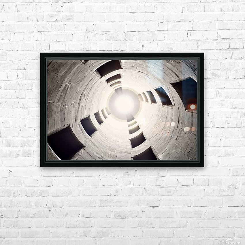 silo perspective HD Sublimation Metal print with Decorating Float Frame (BOX)