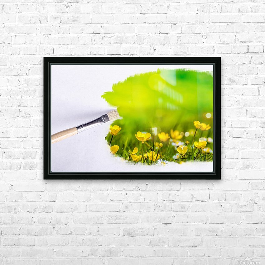 Paintbrush Outdoor Flower Flowers Sunlight HD Sublimation Metal print with Decorating Float Frame (BOX)