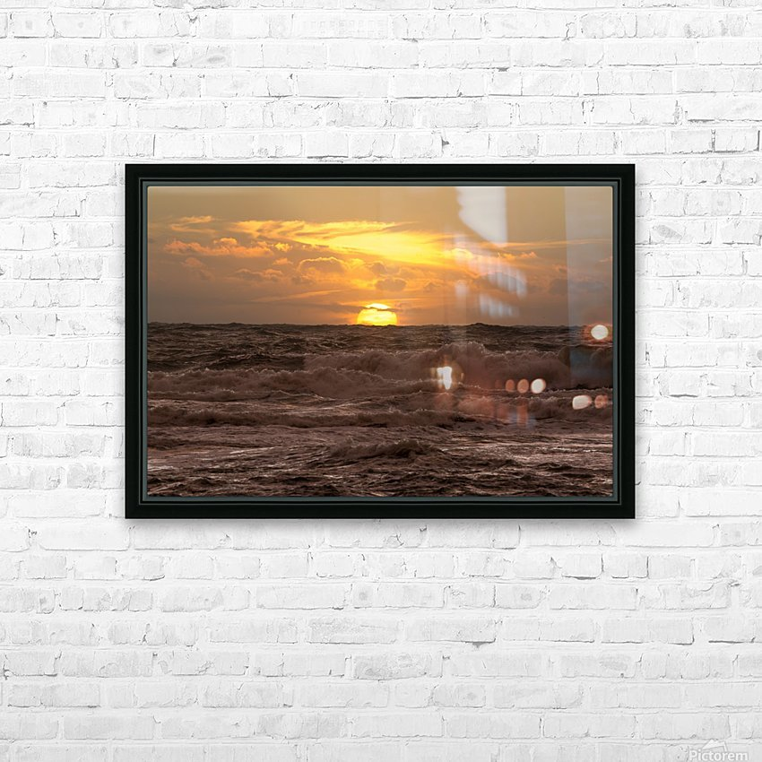 Fire & Water HD Sublimation Metal print with Decorating Float Frame (BOX)