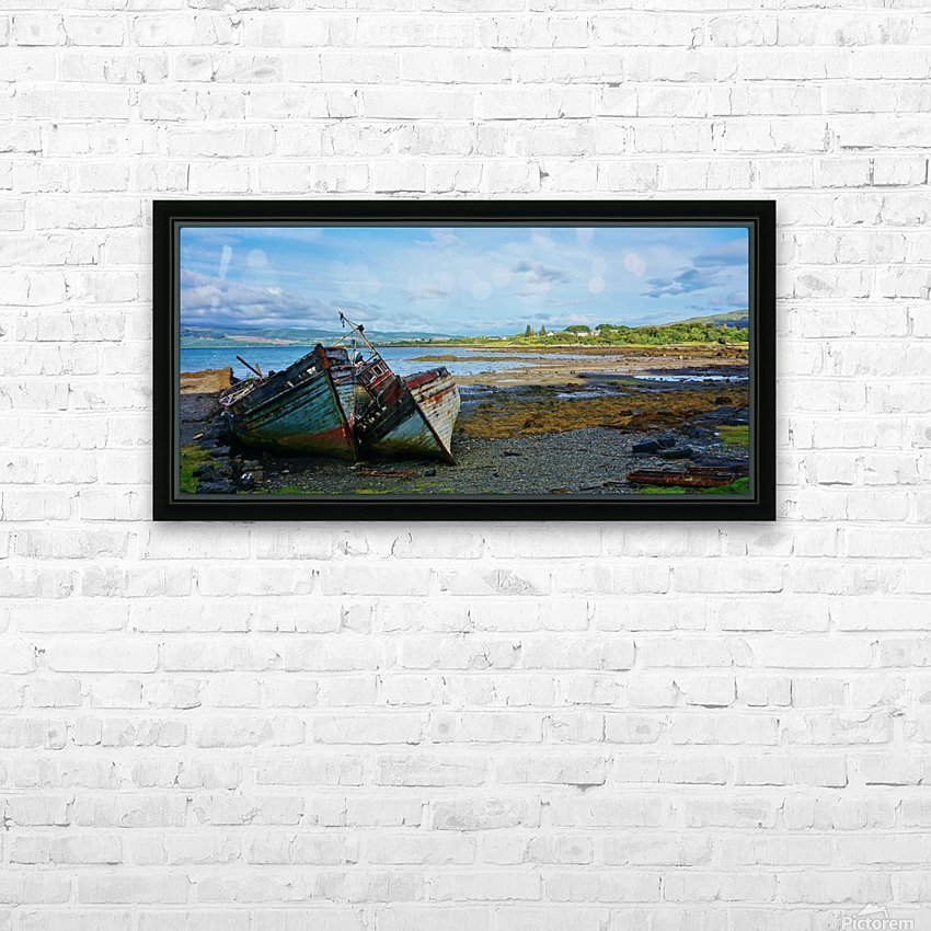 Leaning wrecks HD Sublimation Metal print with Decorating Float Frame (BOX)
