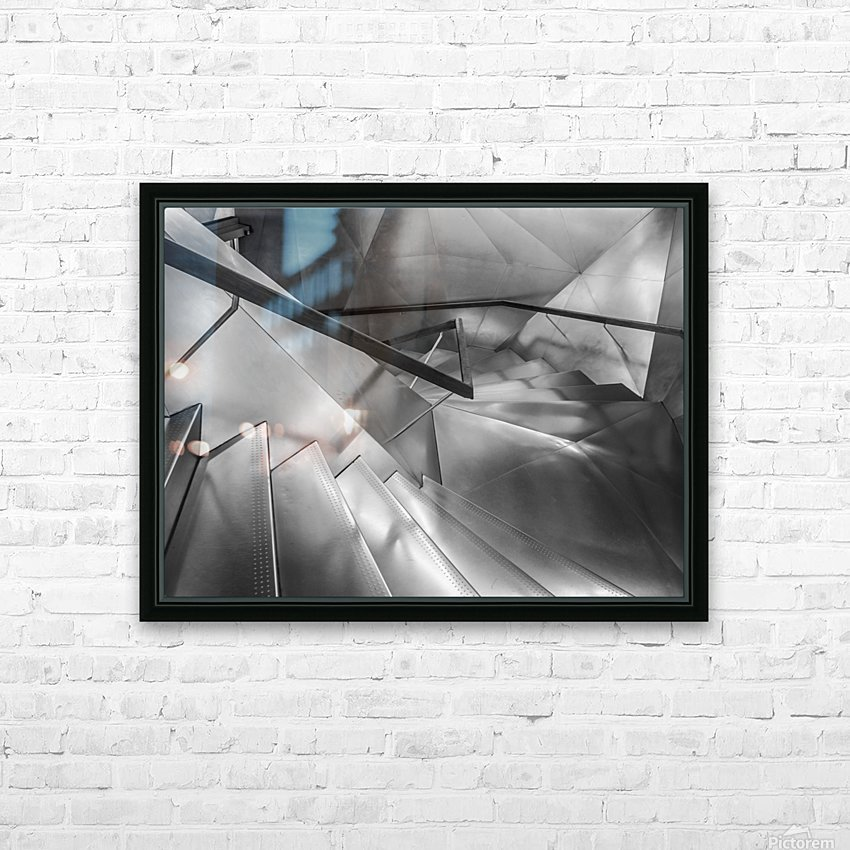 Ladder Art Museum Madrid Creation Arches HD Sublimation Metal print with Decorating Float Frame (BOX)
