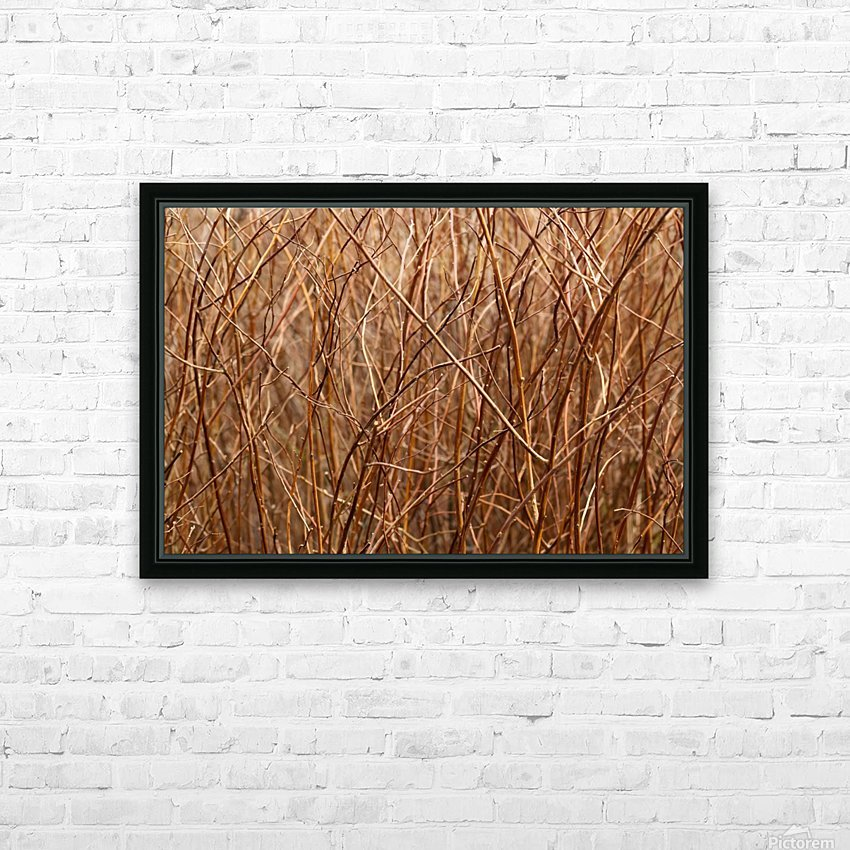 Abstract Background Branch Brown Color Flora HD Sublimation Metal print with Decorating Float Frame (BOX)