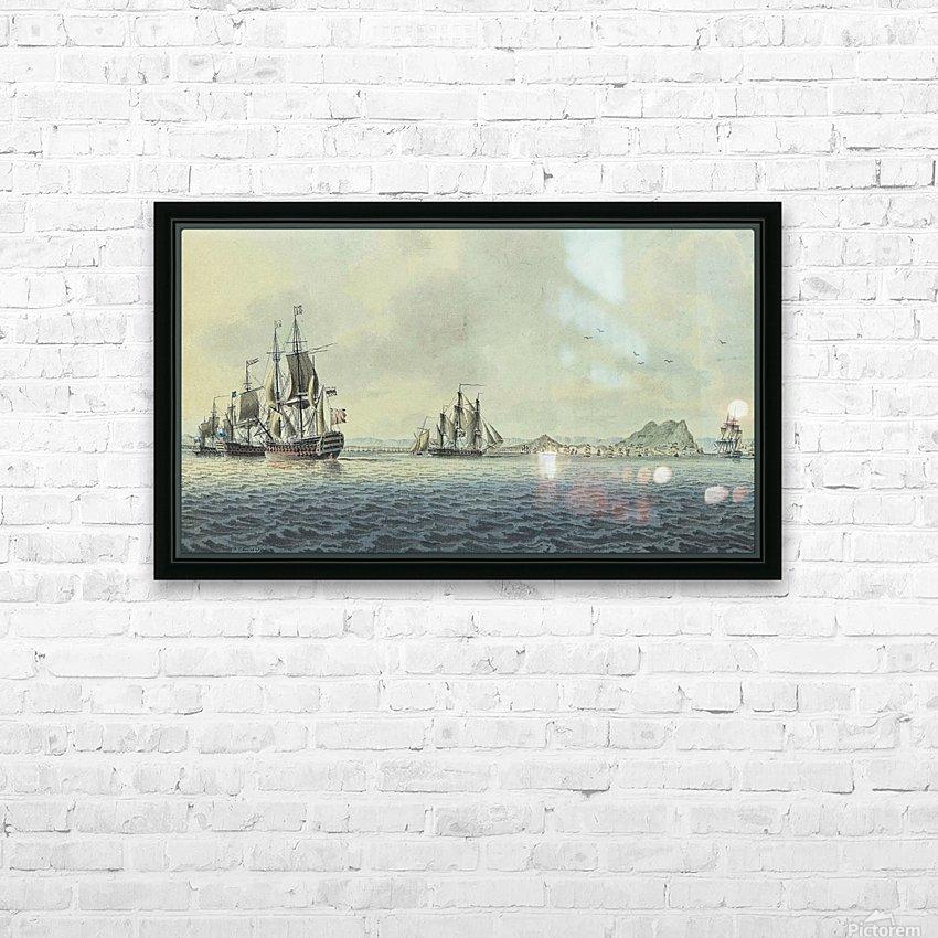 British Fleet off Gibraltar HD Sublimation Metal print with Decorating Float Frame (BOX)