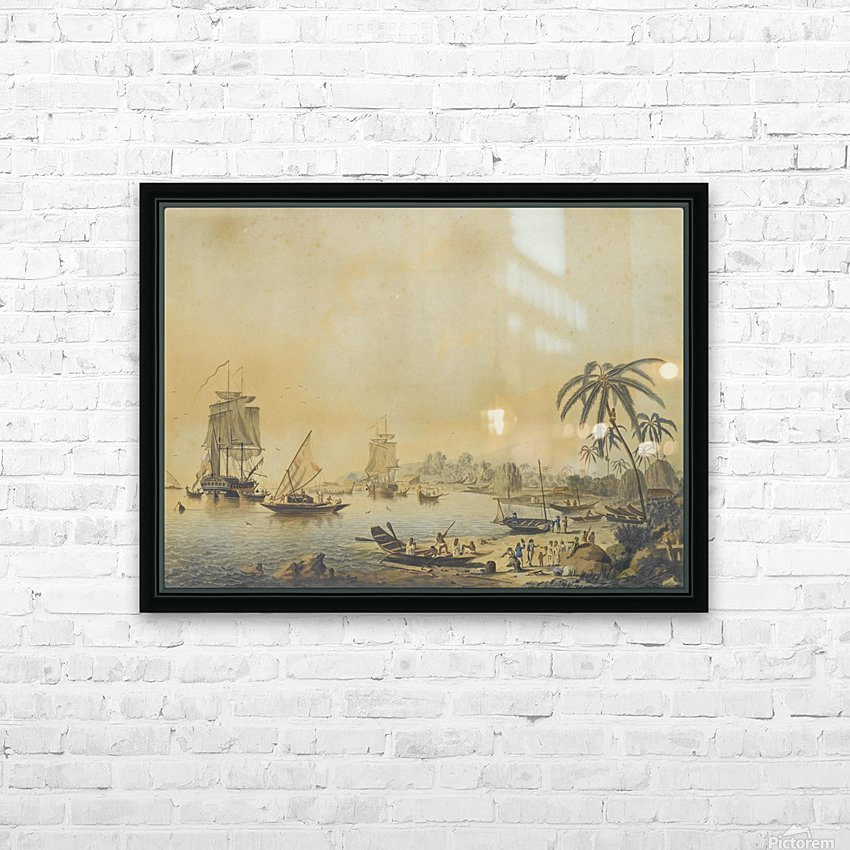 HMS Resolution and Discovery in Tahiti HD Sublimation Metal print with Decorating Float Frame (BOX)