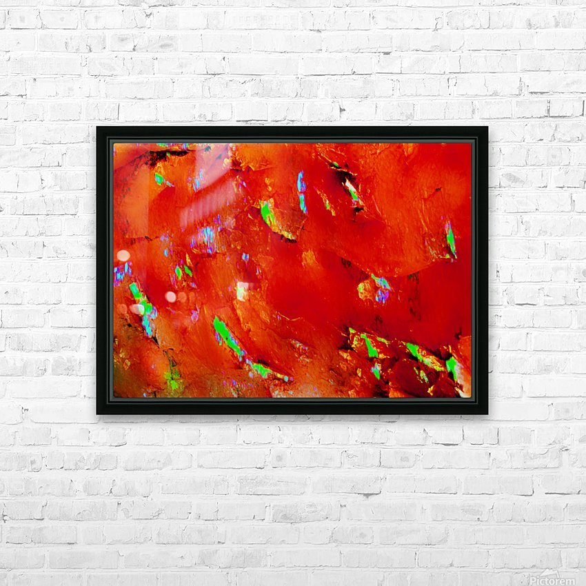 Background Abstract Leaves Seasons Orange Oranges HD Sublimation Metal print with Decorating Float Frame (BOX)