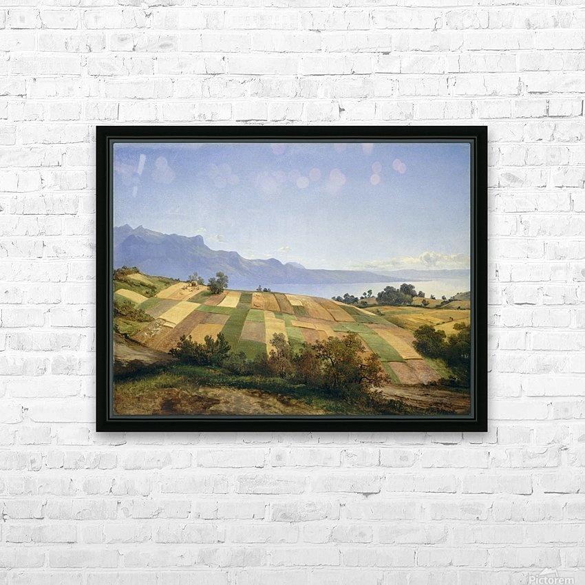 Swiss Landscape 1830 HD Sublimation Metal print with Decorating Float Frame (BOX)