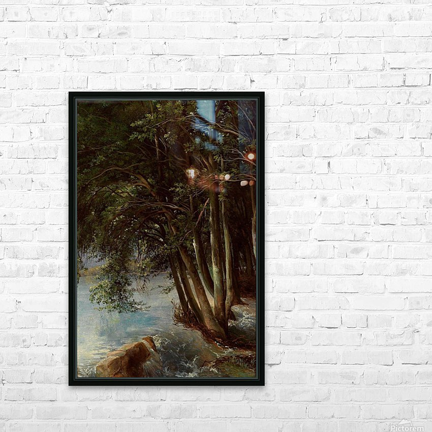 A lovely forest HD Sublimation Metal print with Decorating Float Frame (BOX)