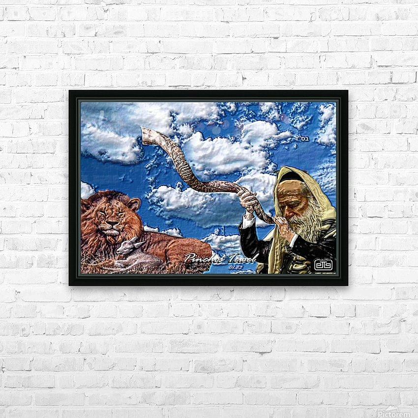 Art   Pinchos   shofar   LION  3D  1 HD Sublimation Metal print with Decorating Float Frame (BOX)