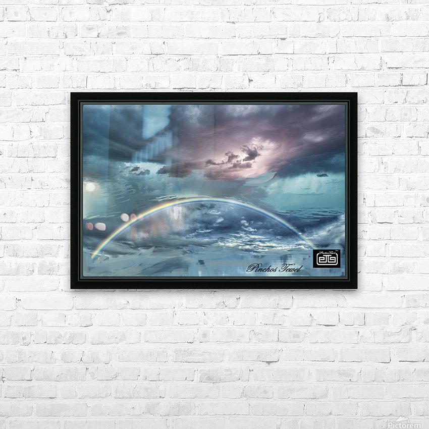 RAINBOW STORM 1 HD Sublimation Metal print with Decorating Float Frame (BOX)