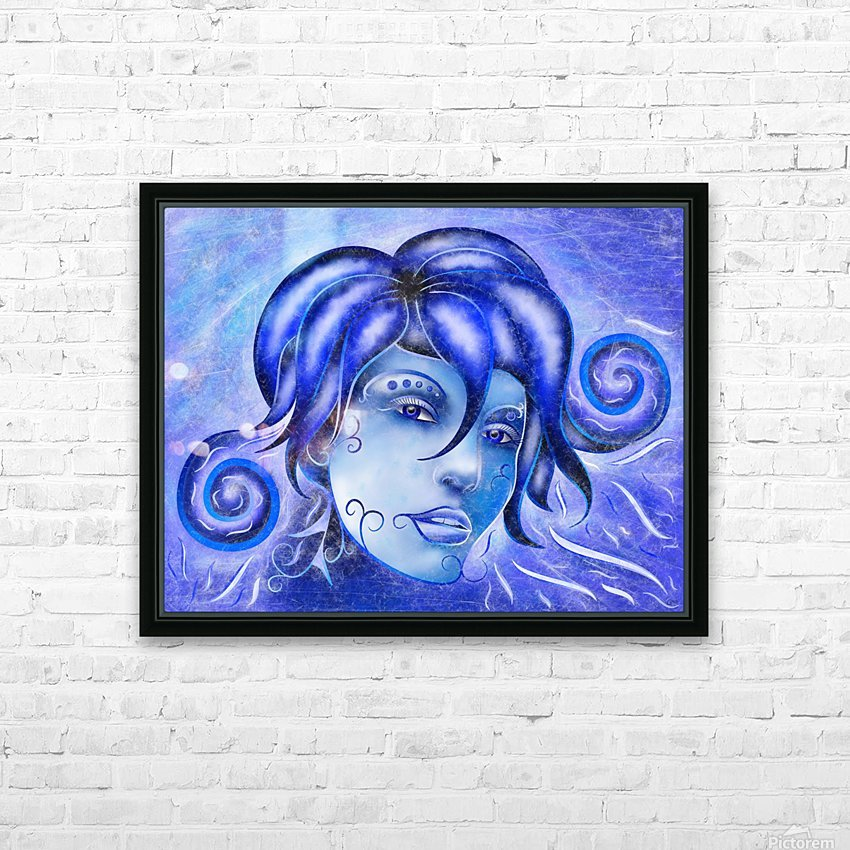Frosinissia V1 - frozen face HD Sublimation Metal print with Decorating Float Frame (BOX)