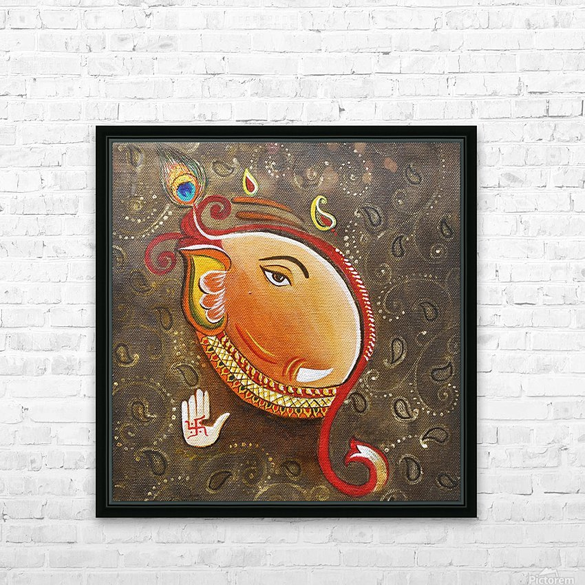 Ganesha the Great God HD Sublimation Metal print with Decorating Float Frame (BOX)