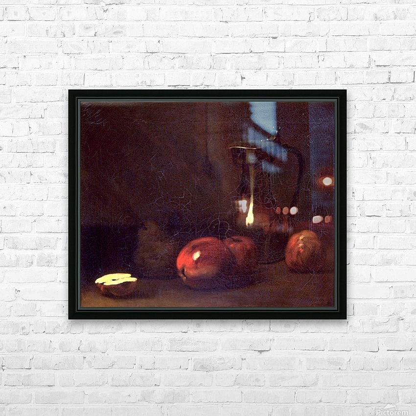 Still life with apples HD Sublimation Metal print with Decorating Float Frame (BOX)