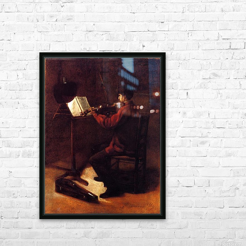 Violinist HD Sublimation Metal print with Decorating Float Frame (BOX)