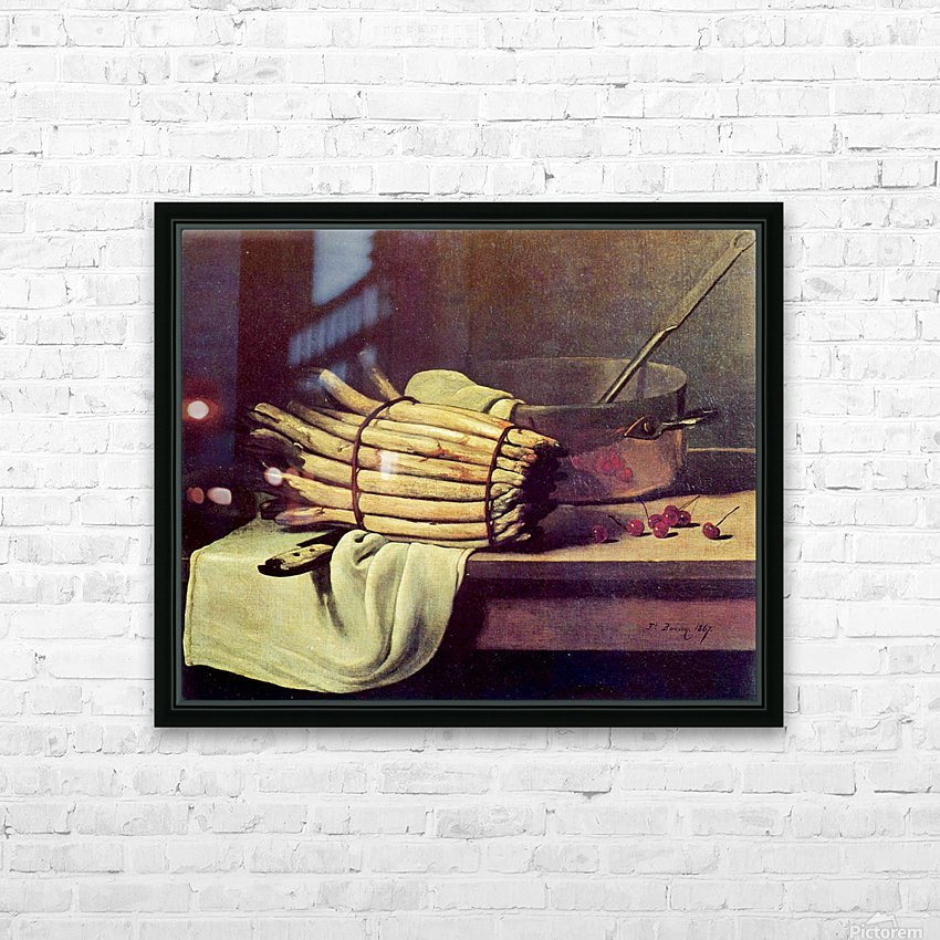 Asparagus Zeit HD Sublimation Metal print with Decorating Float Frame (BOX)