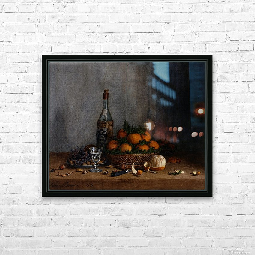 Still Life with Basket of Oranges HD Sublimation Metal print with Decorating Float Frame (BOX)