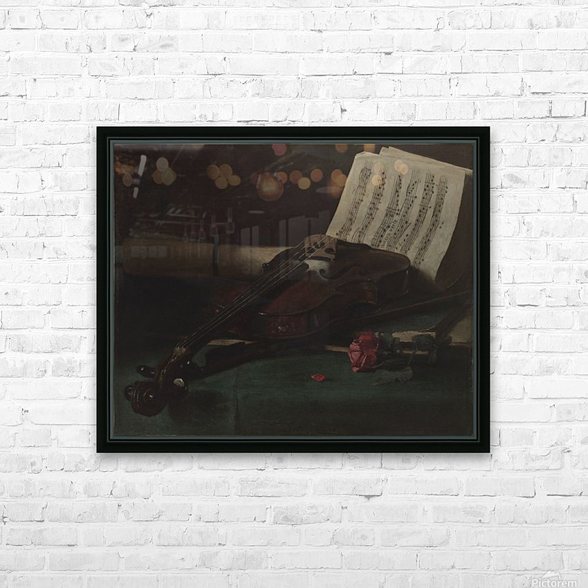 Still life violin HD Sublimation Metal print with Decorating Float Frame (BOX)