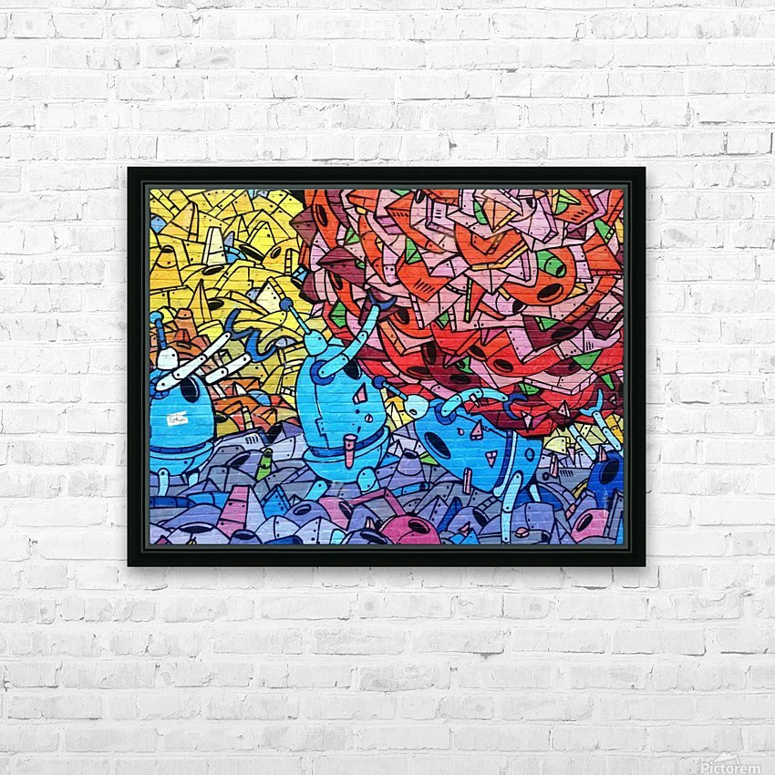 graffiti 569265 HD Sublimation Metal print with Decorating Float Frame (BOX)