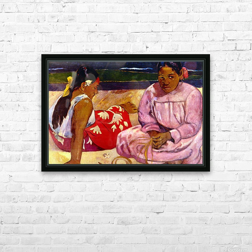 Women of Tahiti by Gauguin HD Sublimation Metal print with Decorating Float Frame (BOX)