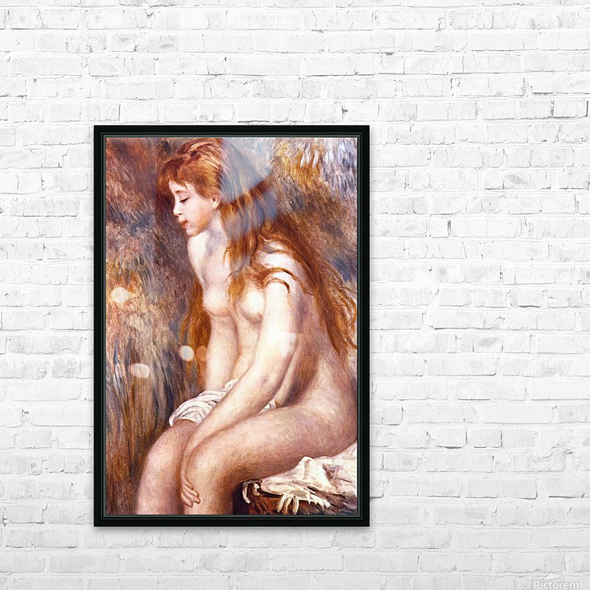 Young Girl Bathing by Renoir HD Sublimation Metal print with Decorating Float Frame (BOX)
