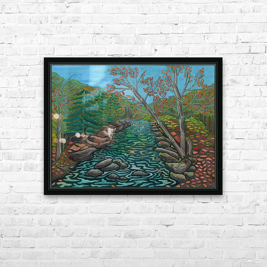 A River View HD Sublimation Metal print with Decorating Float Frame (BOX)