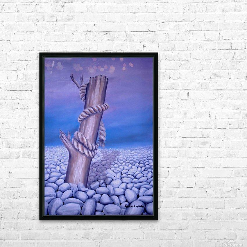 Endless Stillness HD Sublimation Metal print with Decorating Float Frame (BOX)