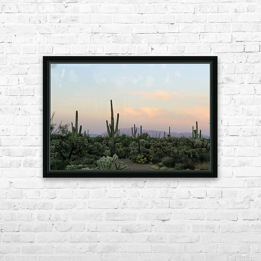 Arizona Desert HD Sublimation Metal print with Decorating Float Frame (BOX)