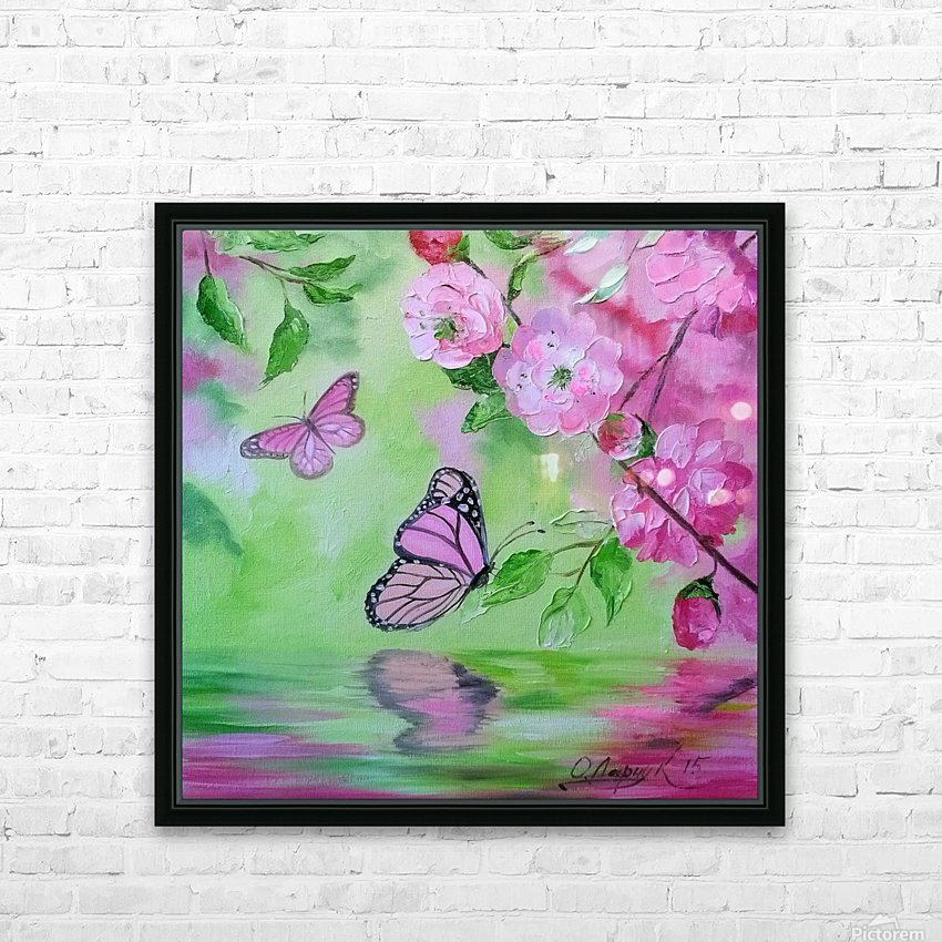 Бабочка   HD Sublimation Metal print with Decorating Float Frame (BOX)