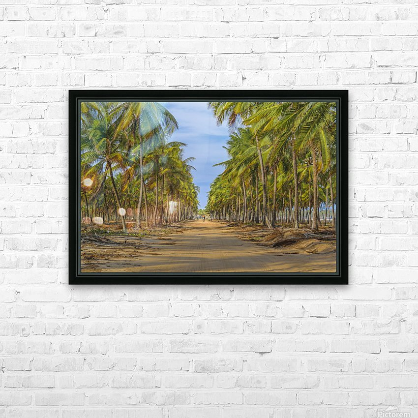 Earth Topical Road Porto Galinhas Brazil 2 HD Sublimation Metal print with Decorating Float Frame (BOX)