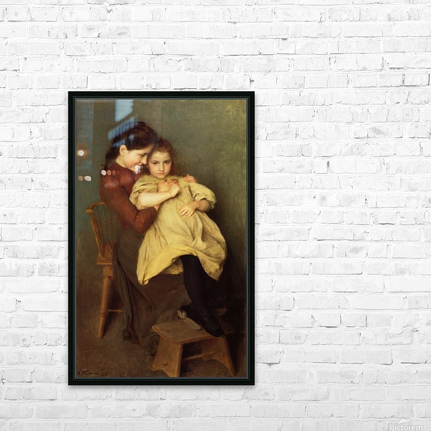 Mother and child HD Sublimation Metal print with Decorating Float Frame (BOX)