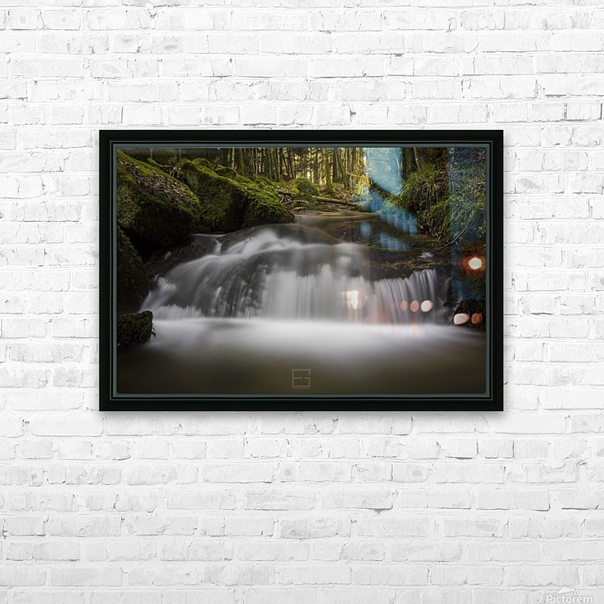 river HD Sublimation Metal print with Decorating Float Frame (BOX)