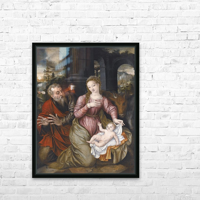 Madonna and child HD Sublimation Metal print with Decorating Float Frame (BOX)
