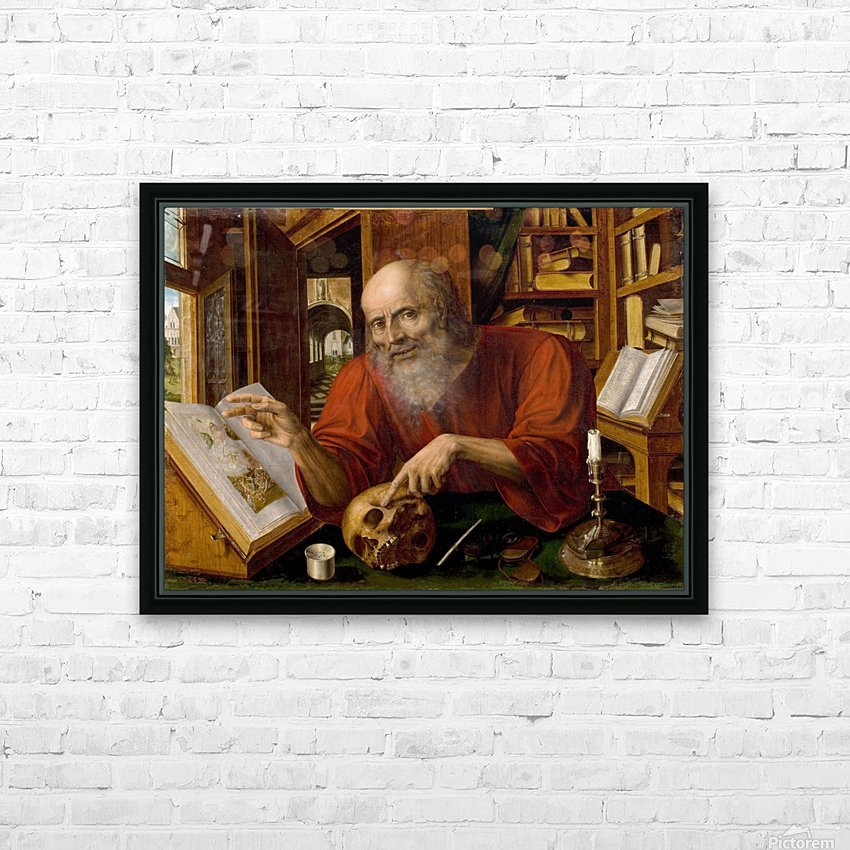 Saint Jerome HD Sublimation Metal print with Decorating Float Frame (BOX)