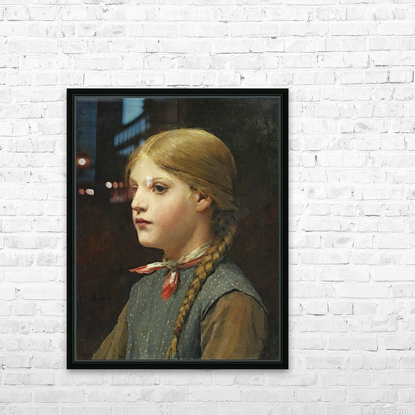 A young girl HD Sublimation Metal print with Decorating Float Frame (BOX)