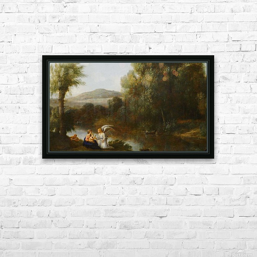 Rest on the Flight into Egypt HD Sublimation Metal print with Decorating Float Frame (BOX)