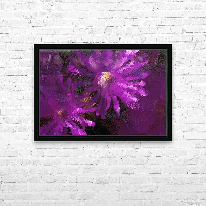 Ice Plant Blossoms Under Ice HD Sublimation Metal print with Decorating Float Frame (BOX)