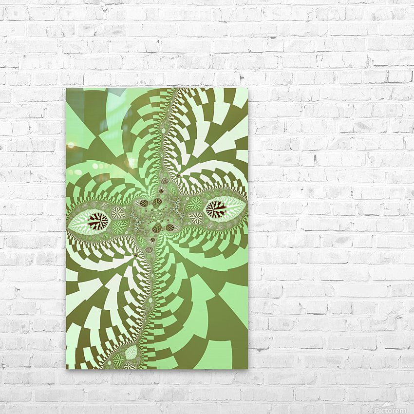 Green Abstract HD Sublimation Metal print with Decorating Float Frame (BOX)