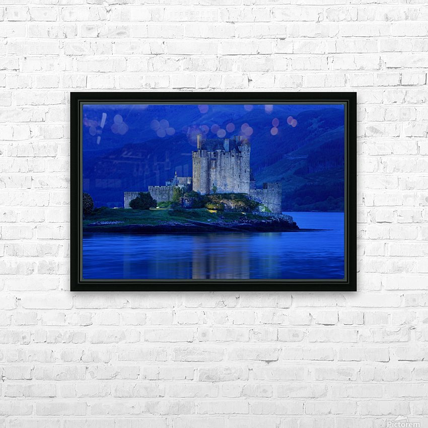 Eilean Donan Castle In Scotland HD Sublimation Metal print with Decorating Float Frame (BOX)