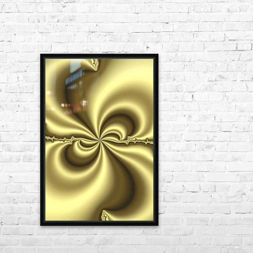 Gold Abstract HD Sublimation Metal print with Decorating Float Frame (BOX)