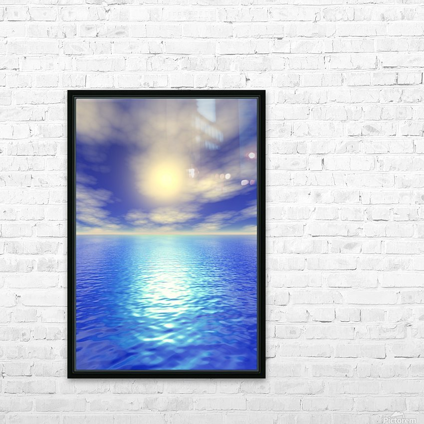 Scenic Ocean View HD Sublimation Metal print with Decorating Float Frame (BOX)