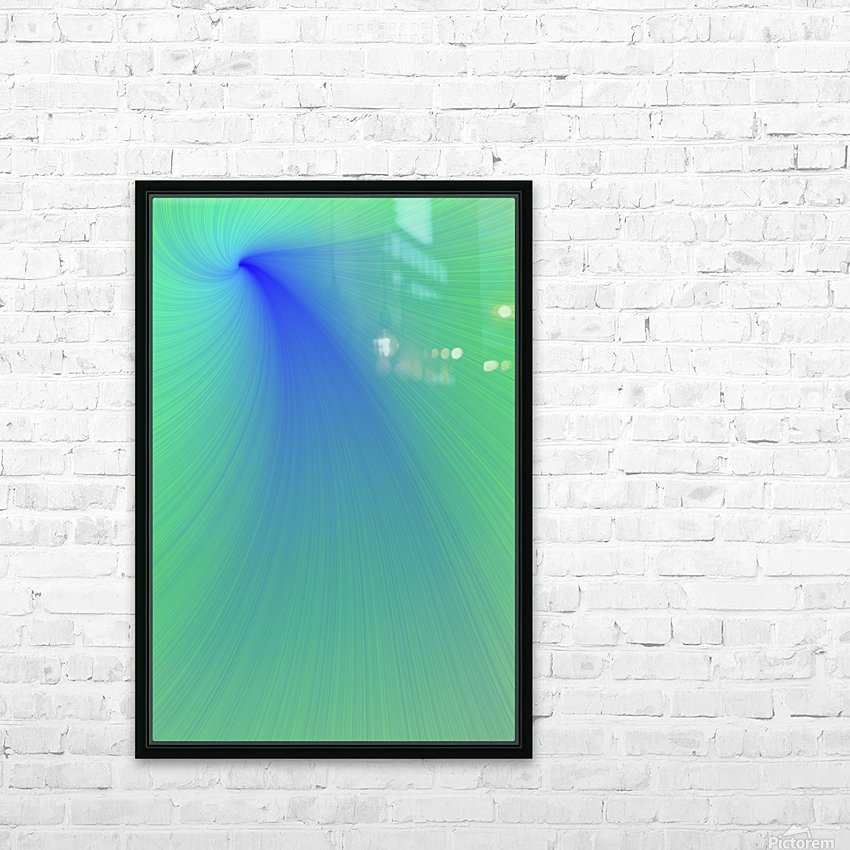 Blue And Green Abstract HD Sublimation Metal print with Decorating Float Frame (BOX)