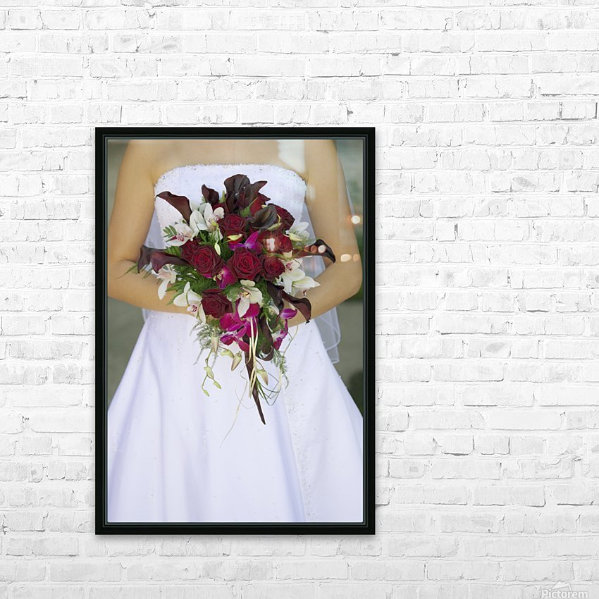 Bride's Bouquet And Wedding Dress HD Sublimation Metal print with Decorating Float Frame (BOX)
