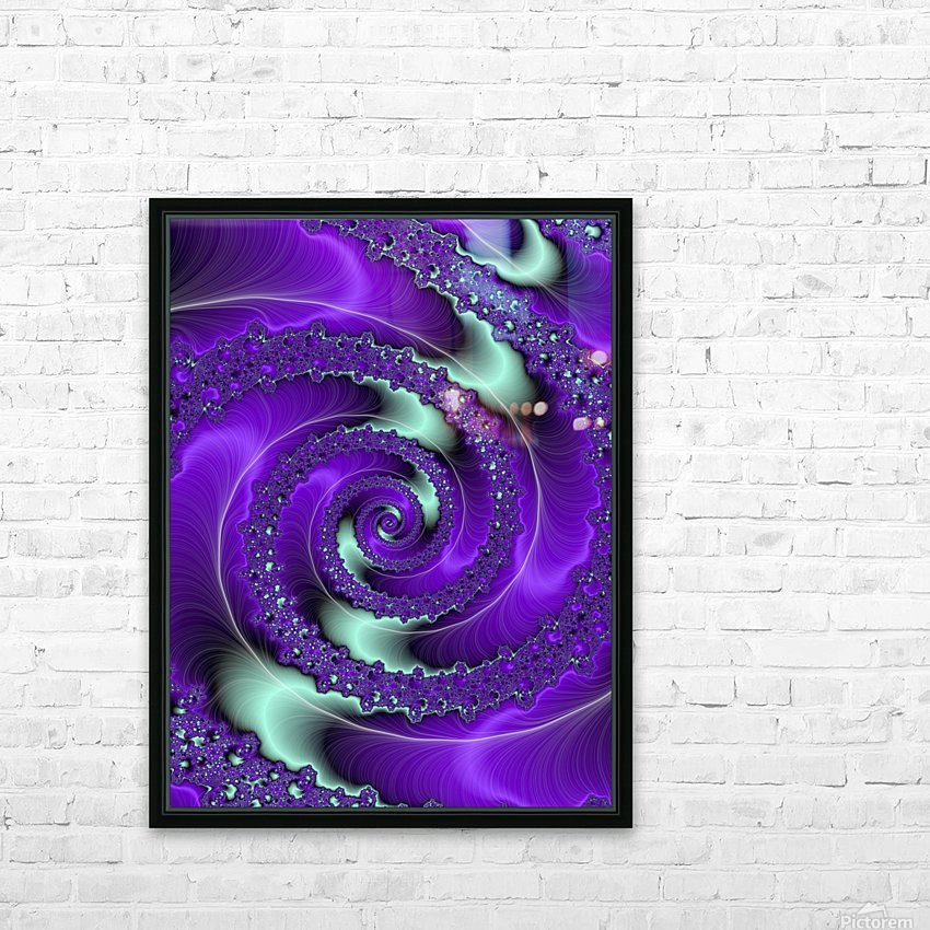 Purple Vortex HD Sublimation Metal print with Decorating Float Frame (BOX)