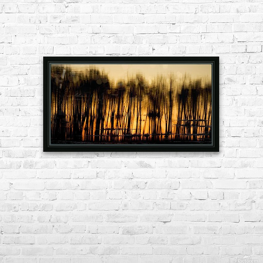 Reflections In Water HD Sublimation Metal print with Decorating Float Frame (BOX)