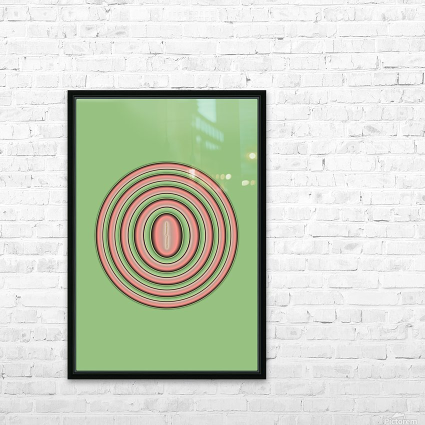 Concentric Circles HD Sublimation Metal print with Decorating Float Frame (BOX)