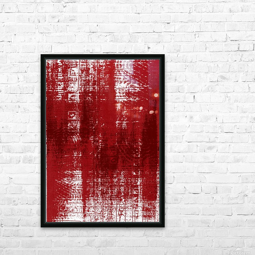 Red Texture HD Sublimation Metal print with Decorating Float Frame (BOX)